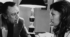 William Holden and Faye Dunaway in Network