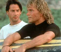 Keanur Reeves and Patrick Swayze in Point Break
