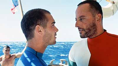 Jean-Marc Barr and Jean Reno in Le Grand Bleu