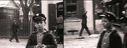 Shot in the Polish community of Oszmiana. Original image from the 1920-1930 home movies from YIVO collection used by Péter Forgács in his installation at the Museum of the History of Polish Jews. Photo courtesy of YIVO Institute for Jewish Research, New York