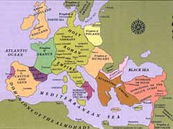 The Holy Roman Empire in the 13th century