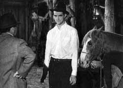 Hughes on the set of The Outlaw