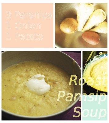 Roast parsnip soup