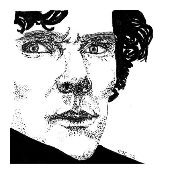 Sherlock Holmes drawing