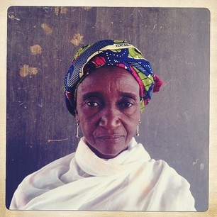Portrait of refugee Aramata Maiga