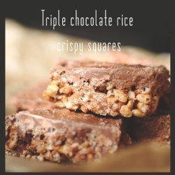 Triple chocolate crispy squares recipe
