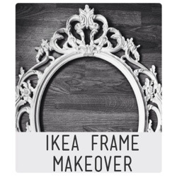 ikea frame to shabby chic