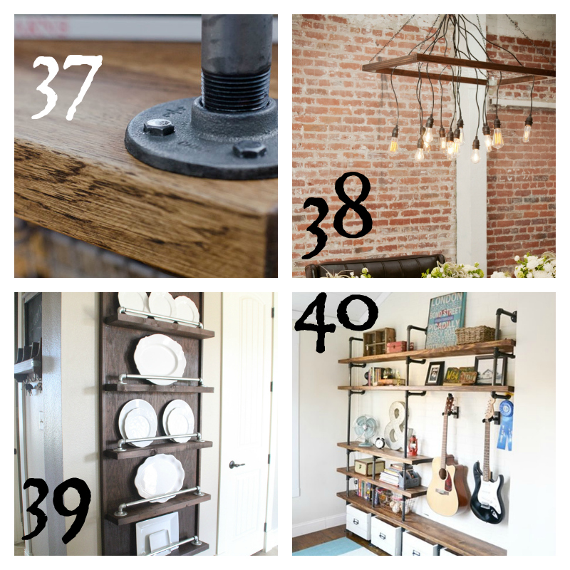 Industrial Furniture DIY Round up