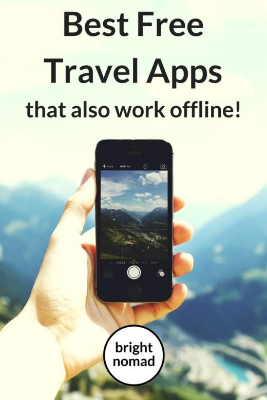 Best Free Travel Apps that also work offline