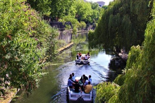 Boats on Regents Canal London
