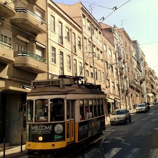 Tram 28 in Lisbon, Portugal
