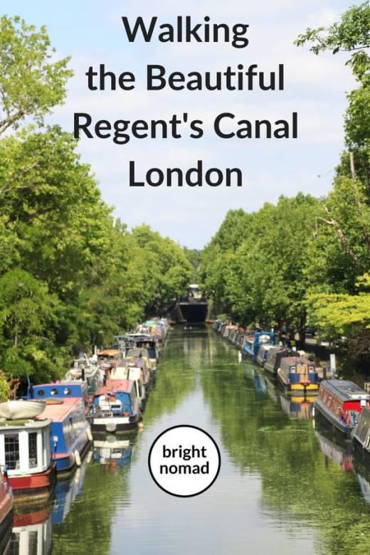Walking the beautiful Regents Canal London