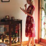 Vintage Style Blog: Elise Design reproduction 1930s red dress | Charlie Stone reproduction vintage shoes