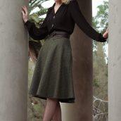 Vintage Style Blog: reproduction 1940s blouse | reproduction 1940s skirt | beret | reproduction 1930s Oxfords