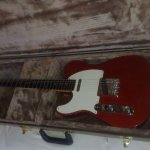Left Hand Candy Apple Red FenderTelecaster