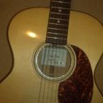 Blonde Maple Custom Folk Guitar