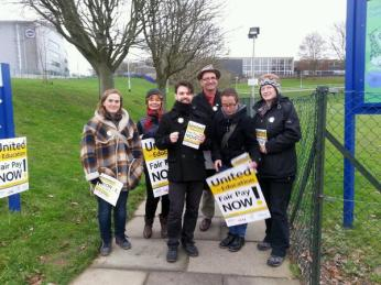 Lecturers at Sussex Uni walk out. Credit: @BenTOGM