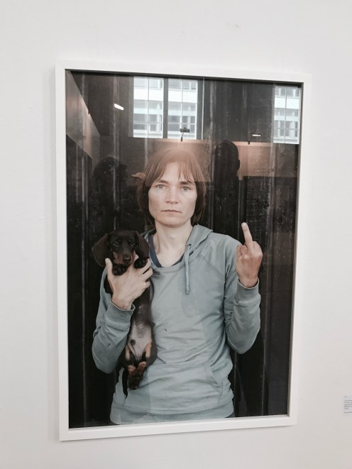 Elina Brotherus, My dog is cuter than your ugly baby, 2013, €5500