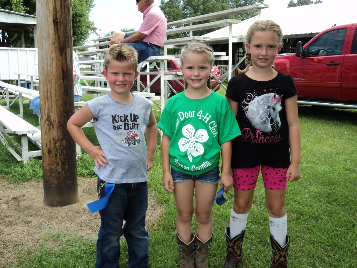 Parker, Payton, and Brinley brought blue-ribbon style to the 4-H Fair.