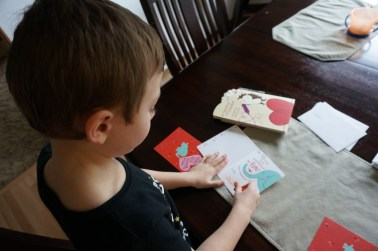 Writing Valentine cards