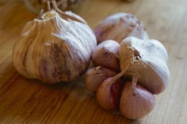 Garlic from our garden.