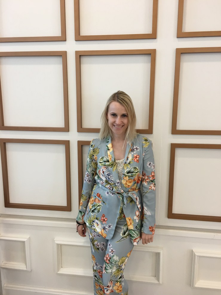 Zara Blue Floral Suit