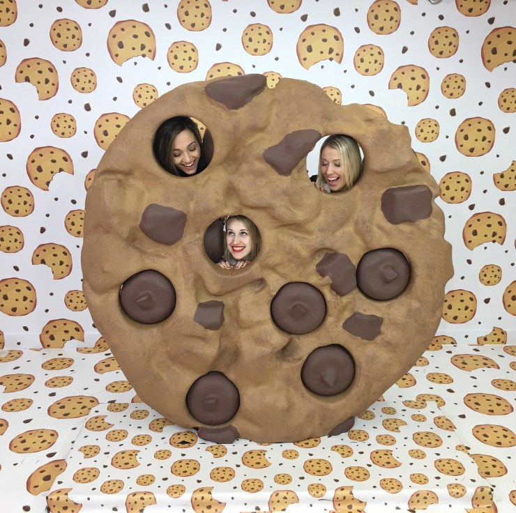 Three girls in a cookie