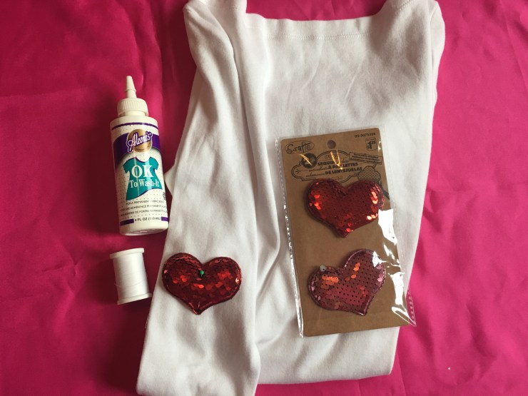 Heart Sleeve Shirt Supplies