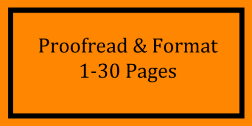 Proofread & Format 1-30 Pages Logo