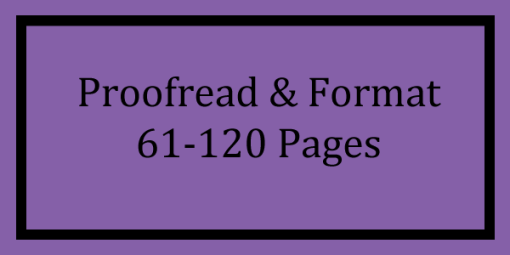 Proofread & Format 61-120 Pages Logo