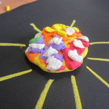Mad mad sunshine! Made by one of the kids in our Stop Motion Animation workshop for his film piece!