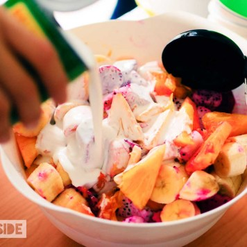 Fresh Fruit salad with Coconut Milk