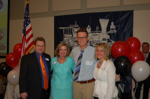 L-R Greg Carter, California Dreaming; Debbie Underkofler, North Georgia Staffing, Daniel Kinslow, NCHS, Chef Xan Payton, NCHS.