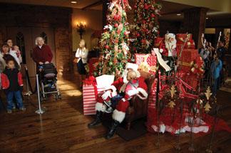 Santa at Christmas at Piedmont
