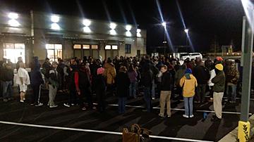 Crowds Gather