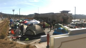Tent City at Chick-Fil-A