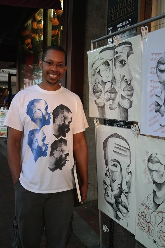 "Jamaal Barber, April ""Best of Show"" winner, will be at 2 Rules Fine Art tonight for the Encore Show. Congratulations Jamaal!"