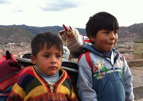 Cusco young boys - Peruvian children have the sweetest faces