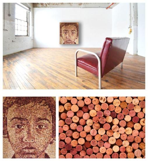 Corporate Event Planning Idea: Cork Portraits