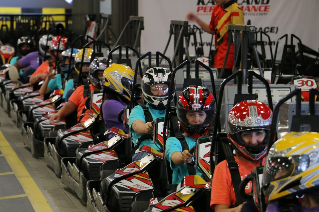 Go cart racing was an excellent opportunity to learn why team builders are important