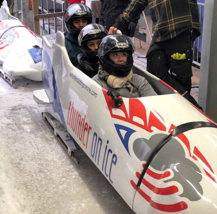 whistler incentive trip activity: bobsledding
