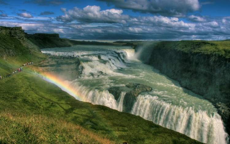 iceland incentive travel gullfloss waterfall