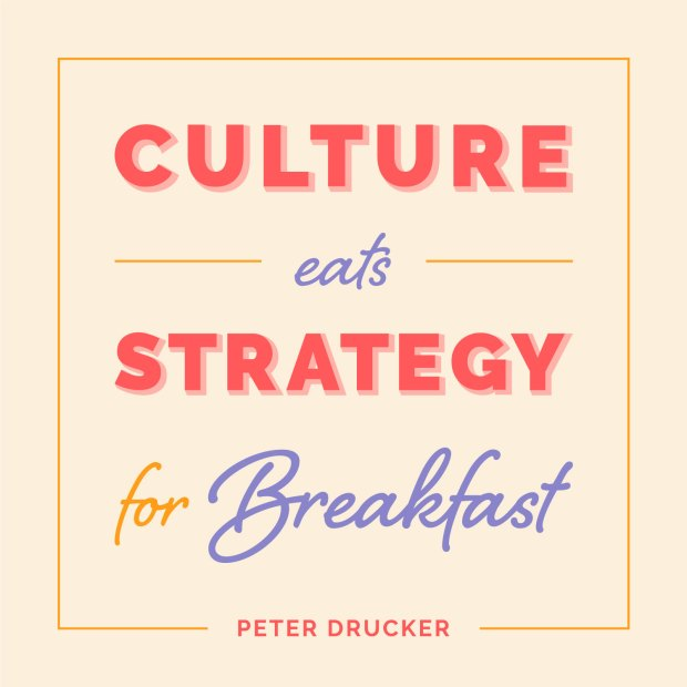 sales kickoff culture eats strategy for breakfast quote