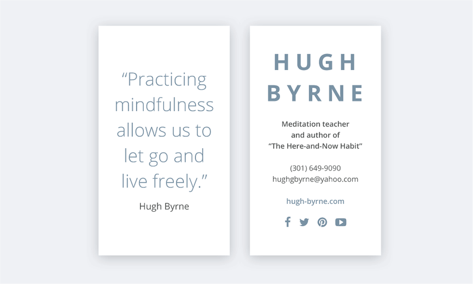 Hugh Byrne business cards by Tippi Thole of Bright Spot Studio