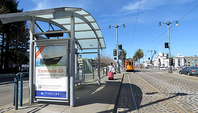 Tideline bus shelter design and campaign by Bright Spot Studio