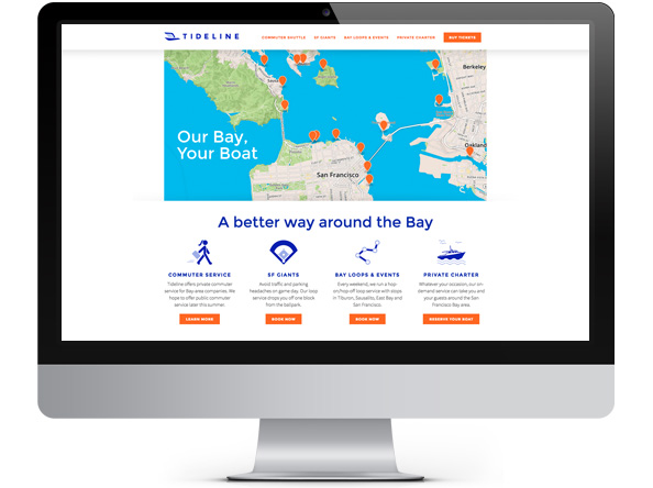 Tideline website redesign by Tippi Thole of Bright Spot Studio