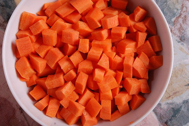 Cubed Carrots