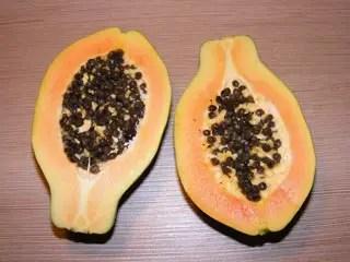 Papaya Halved