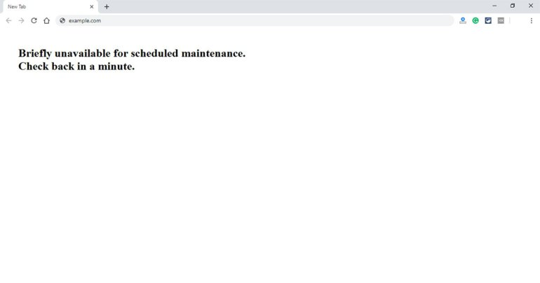 WordPress Briefly Unavailable