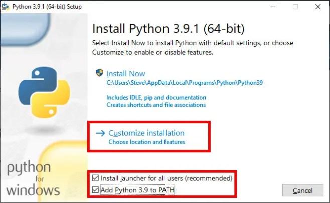 Python 3 Wizard Windows 10